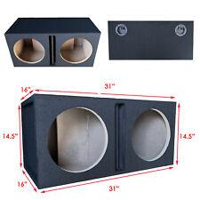 "Pro Dual 12"" Ported Subwoofer Enclosure Car Audio Speaker Box All Mdf"