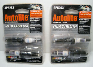 Lot of 4 New AUTOLITE PLATINUM Spark Plugs Platinum Tips #AP5263 - NOS