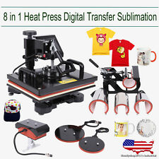 8in1 Hat Mug T-shirt  Plate Cap Heat Press Sublimation Printing Transfer Machine