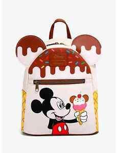 Loungefly Disney Mickey Mouse Ice Cream Mini Backpack Treats Bag