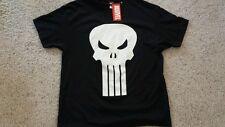 XXL Punisher T-Shirt  Marvel NEW! XXG Black with Skull logo