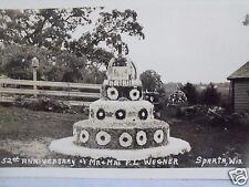 RPPC WI.SPARTA, WIS. 52TH ANN. MR & MRS P L WEGNER WISCONSIN REAL PHOTO POSTCARD