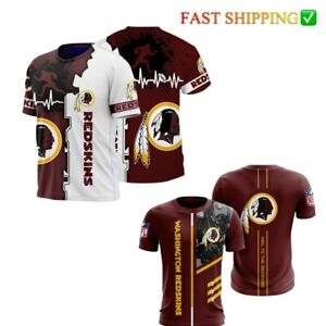 WASHINGTON FOOTBALL TEAM T SHIRT Mens Shirts Summer Tee Tops  Sport Short Sleeve