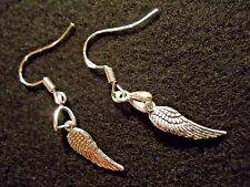 Angel Wing Earrings Sterling Silver Hooks Tibet Silver Wings charm 1 pair  A8