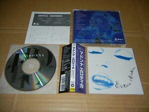 "Madonna ""Erotica"" JAPAN CD w/OBI WPCP-5000"