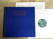 Steve Reich – Tehillim   - -   LP + INSERTO