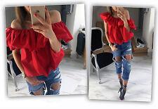 Fashion Women Sexy Off Shoulder Casual Blouse Summer Tops Beach T Shirt L