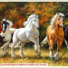 "Northcott Wild and Dp21852 Digital Print Horses Western Fabric PNL 24""x42"""