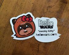 Star Wars Ewok Sticker Decal Family Hello Kitty