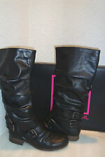 Material Girl Womens NWB Mrace Race Black Boots Shoes 8 MED NEW
