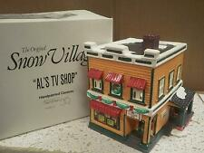 DEPARTMENT 56- RETIRED- 54232 AL'S TV SHOP- EXCELLENT CONDITION-BOX WEAR -D10