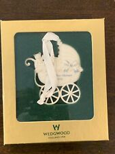 New Vintage 2000 Wedgwood Baby's First Christmas Ornament Baby Buggy England