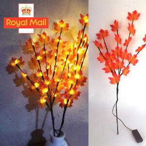 LED Autumn Fall Maple Leaf Garland Fairy Lights String Lamp Garden Patio Decor