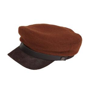 Jake Spitfire Brando Fiddler Winter Wool Cap For Men & Women With Leather Peak