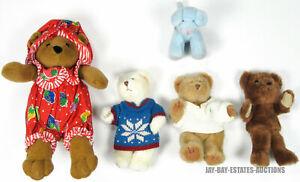 VINTAGE LOT 5 RUSS BERRIE BEARS STRAWBERRY SHORTCAKE #3157 #1170 #809 #1706 #341