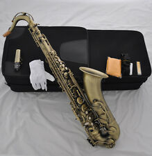 Prof. Antique Bb Tenor Saxophone Sax High F# with FREE case / mouthpiece