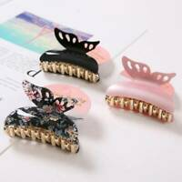 Acrylic Butterfly Clip Women Hair Clips Accessories Fashion Tiaras Hair Claw