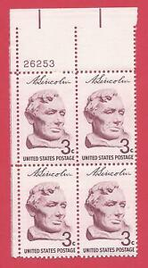 "U.S. SCOTT 1114 MNH 3 CENT PLATE BLOCK OF 4 1959- ""BUST OF ABRAHAM LINCOLN"""