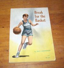 Vintage BREAK FOR THE BASKET, Matt Christopher, Scholastic PB 4th Printing, 1970