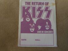 "KISS ""RETURN OF KISS"" ORIGINAL  BACKSTAGE PASS"