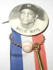 1950's Baseball Stadium Pin Coin Button Willie Mays New York Giants Pinback