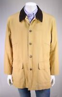 BROOKS BROTHERS Light Brown Cotton Barn Jacket w/ Quilted Liner ~ Large