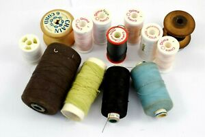 Lot of 12 x Vintage COATS Cotton Reels - Different Colours of thread     #W98-14