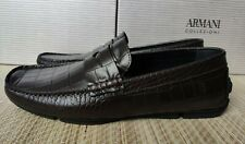 Armani Collezioni men's driving shoes size 43(9UK) - Made in Portugal, Leather