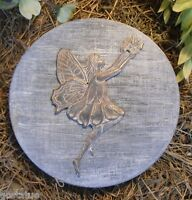 """Fairy flower small stepping stone mold mould 8"""" x 1.25"""" thick 1/8th"""" plastic"""