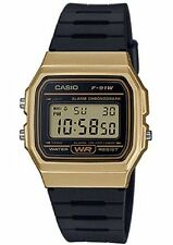Casio F91WM-9A, Digital Chronograph Watch, Black Resin Band, Alarm, Date