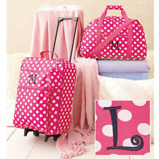 Kids Luggage Sets For Girls Rolling Suitcase Duffel Bag Set Pink The Letter L