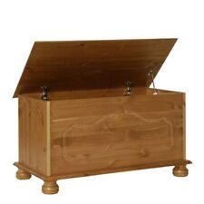 Large Copenhagen Pine Wood Ottoman Storage Chest Box Footstool Toy Living NEW