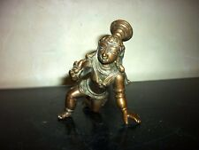 Ancient bronze statue bala krishna India xix th brass copper 19th vijayanagara