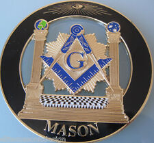 Master Mason Cut out Car  Emblem  Pillars black