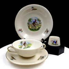 MITTERTEICH BARVARIA PORCELAIN 4PC MONKEY & ELEPHANT CHILDS DISH SET