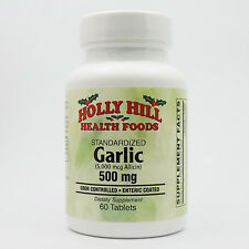 Holly Hill Health Foods, Standardized Garlic, 500 MG, 60 Enteric Coated Tablets