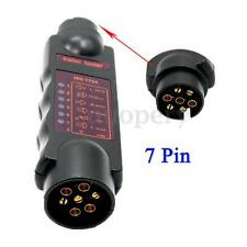 7 Pin Trailer Caravan Towing Tester Bar Lights Wiring Circuit Plug & Socket