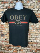 OBEY Bootleg Gucci Shirt Black Mens Small Skate Streetwear Hip Hop Logo Spellout