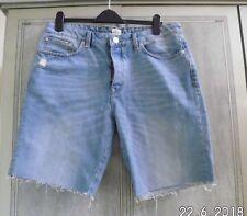 River Island Slim Denim cut off distressed Shorts Size UK 38 ins EU 97cms