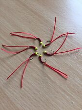 Bloodworm Red Flexi Floss Stalking Bug Trout Fly Buzzer Lure Sz12