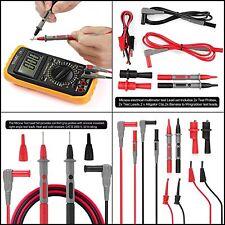 Test Clips Leads Fluke Digital Multimeter Kit Heavy Duty Tester Probe Set Of 8