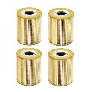 Set of 4 Oil Filters For Volvo C70 S40 S60 S70 S80 V40 V70 XC70 XC90 MANN HU819X