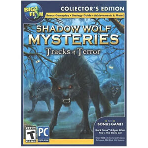 Shadow Wolf MYSTERIES Tracks of Terror Collector's Edition + Bonus Game! PC Game