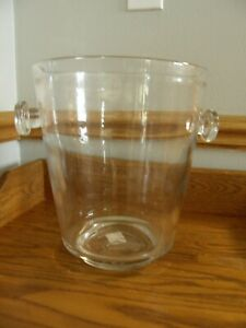 Pottery Barn Donovan Clear Ice Bucket - Wine / Champagne Chiller - Barware - New