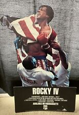 """Vintage 1986 ROCKY IV Stallone/Mr. T Table Standee Collectors Item - 17"""" X 12"""""""