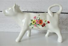 Cow Creamer Made in France Floral Flowers White