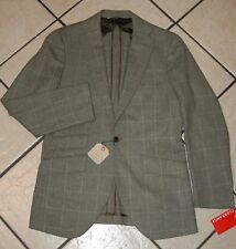 Miller's Oath Men's Windowpane Flannel Sportcoat, Green/White, Size 38R
