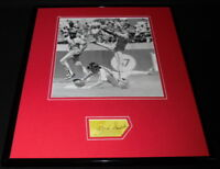 Ozzie Smith Signed Framed 16x20 Photo Display Cardinals