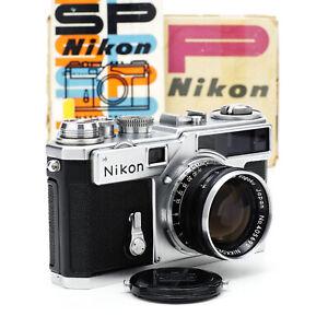 Nikon SP RF Camera Chrome Cloth Shutter w/ Nippon Kogaku Nikkor-S 5cm F/1.4 Lens