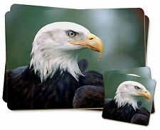 Eagle, Bird of Prey Twin 2x Placemats+2x Coasters Set in Gift Box, AB-E6PC
